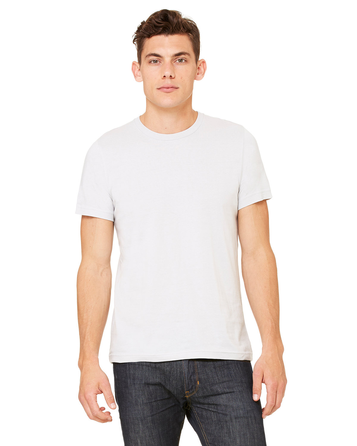 Bella + Canvas Unisex Made In The USA Jersey T-Shirt SILVER
