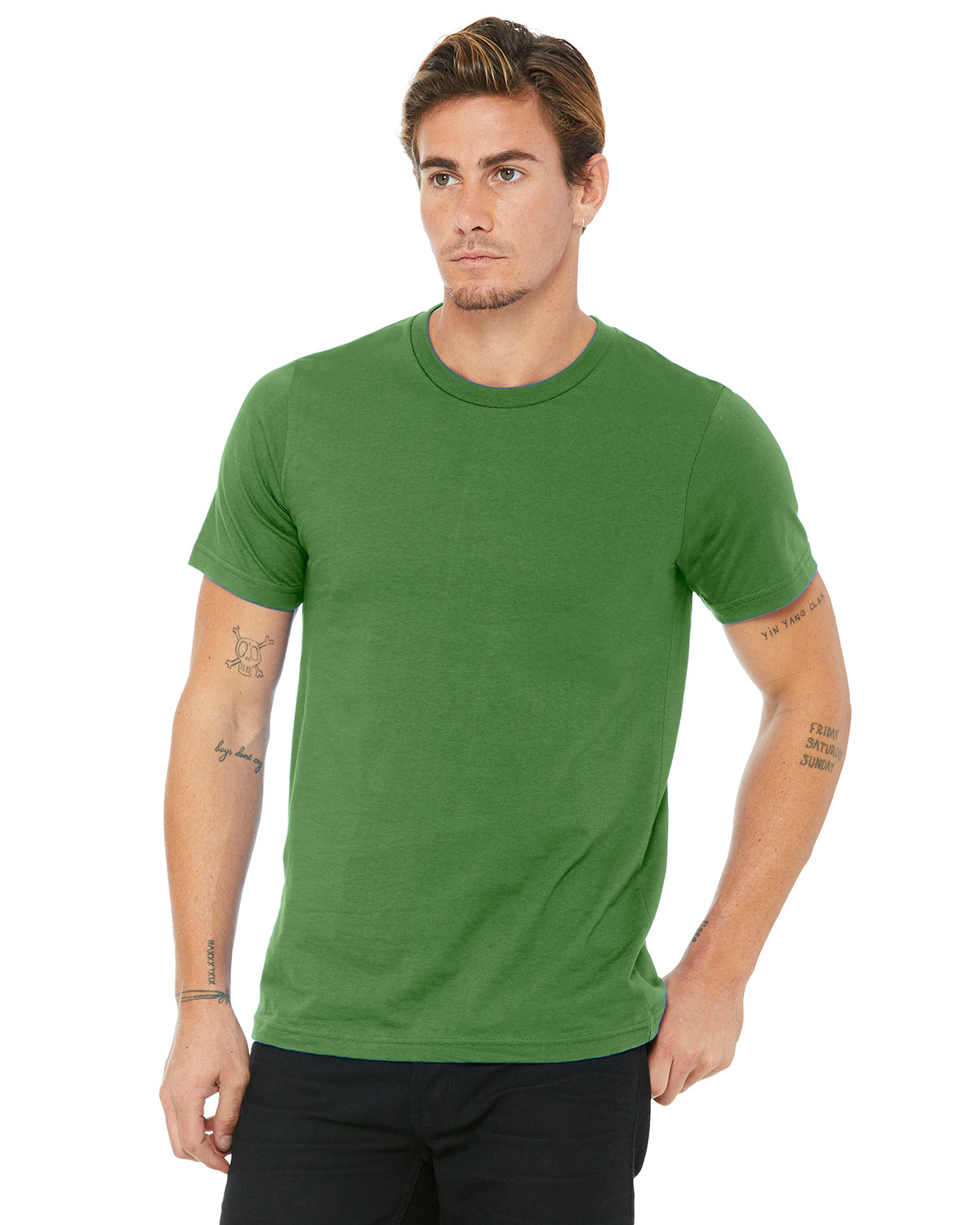 Bella + Canvas Unisex Made In The USA Jersey T-Shirt LEAF