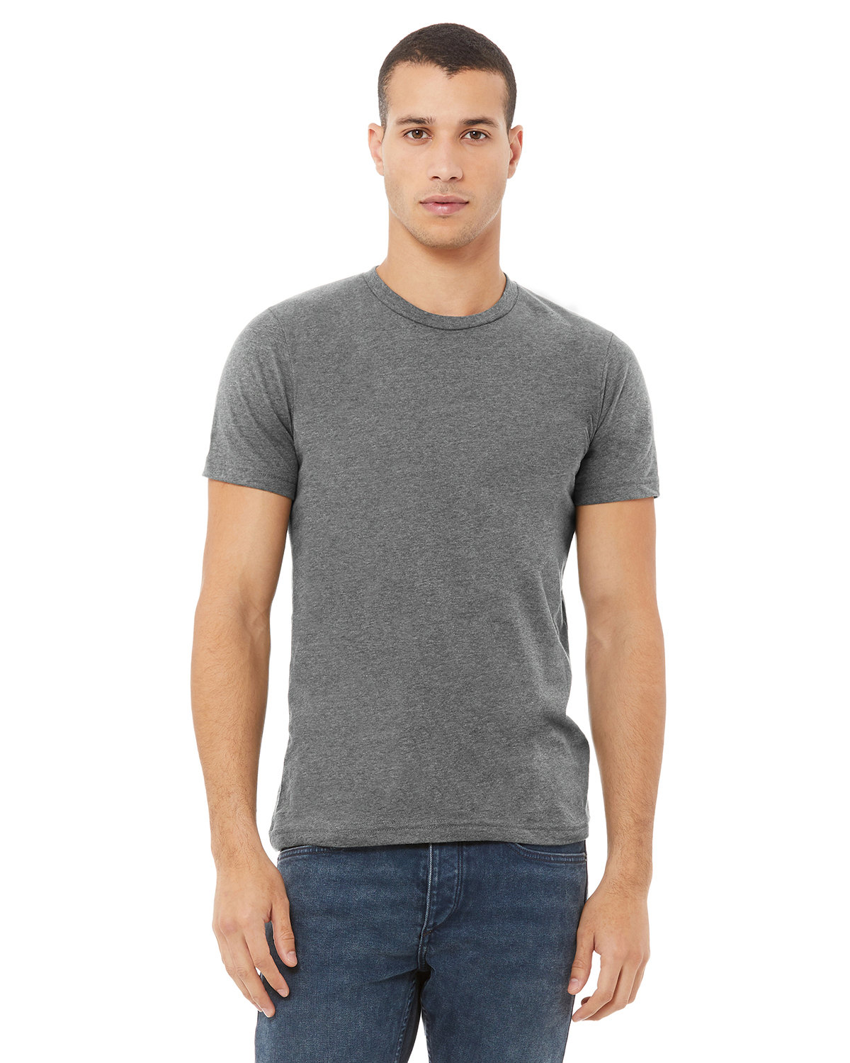 Bella + Canvas Unisex Made In The USA Jersey T-Shirt DEEP HEATHER