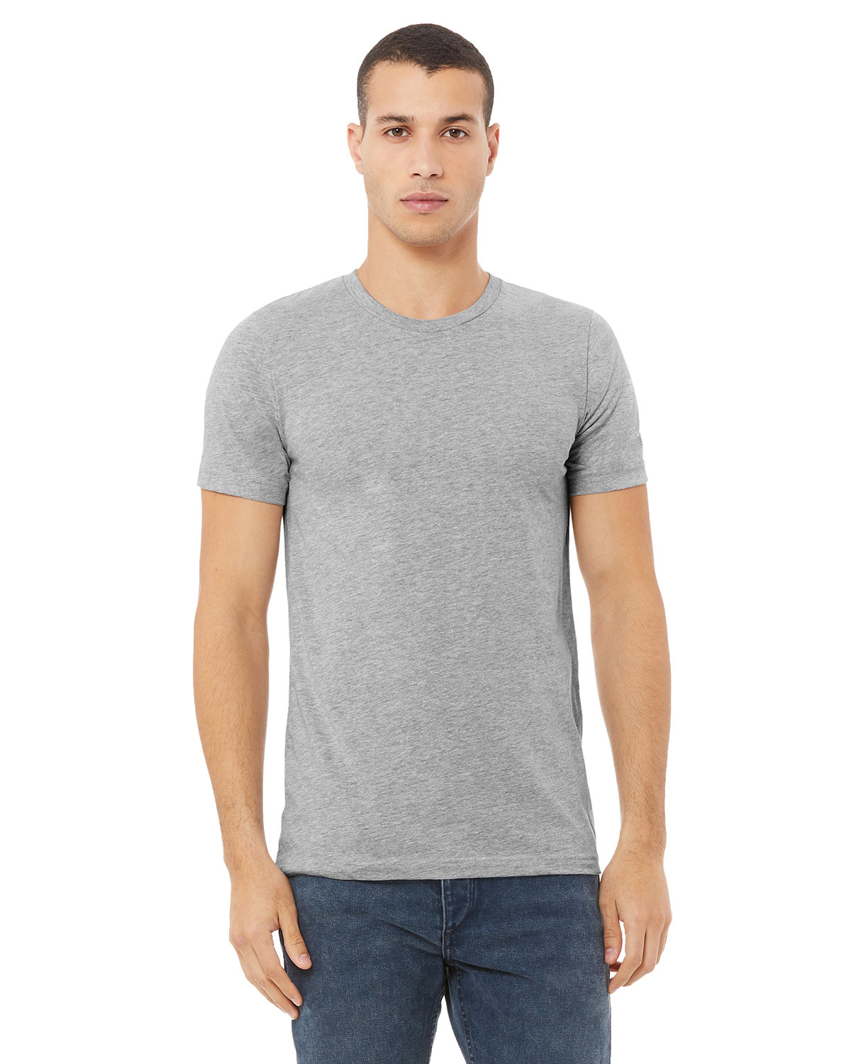Bella + Canvas Unisex Made In The USA Jersey T-Shirt ATHLETIC HEATHER