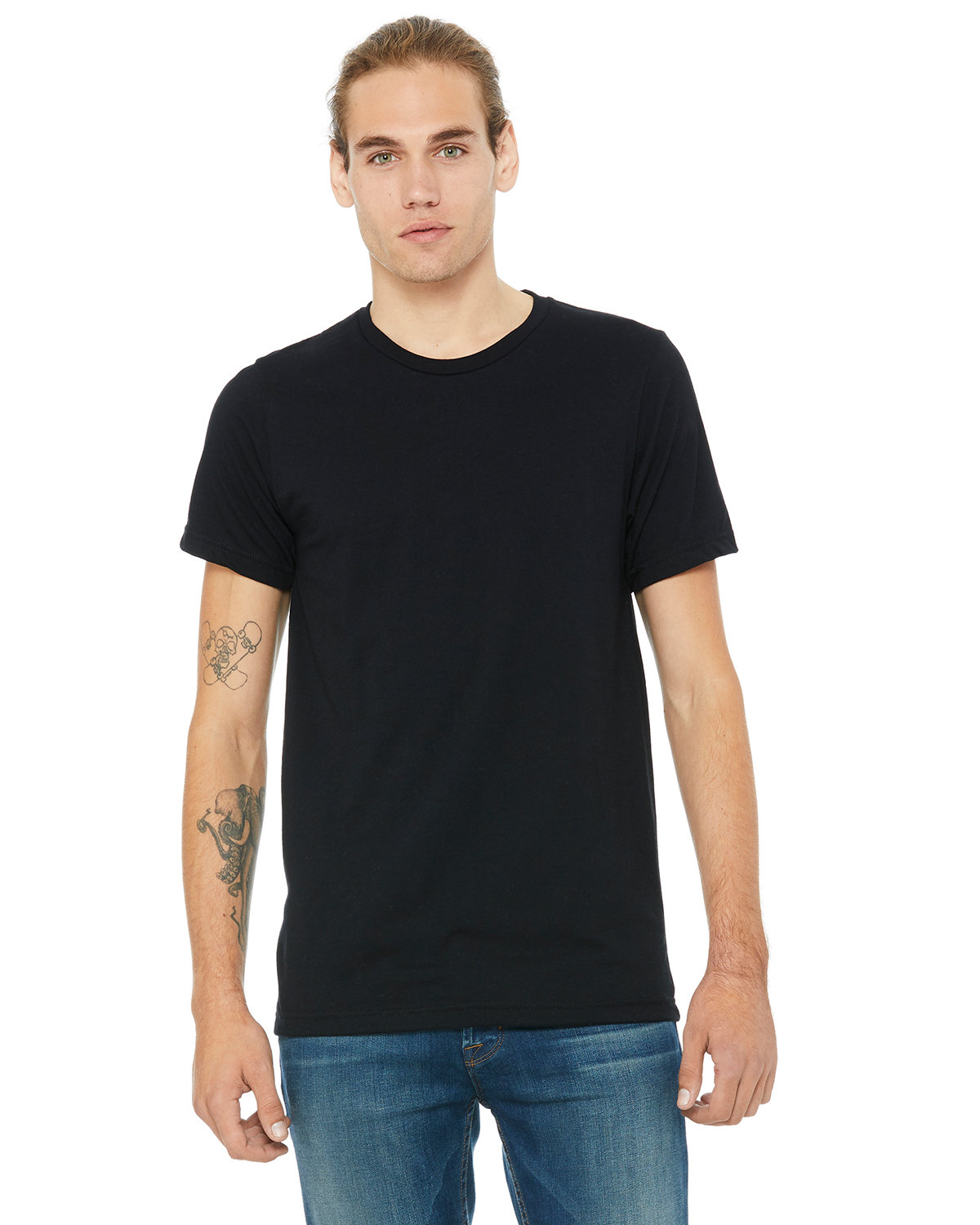 Bella + Canvas Unisex Made In The USA Jersey T-Shirt BLACK