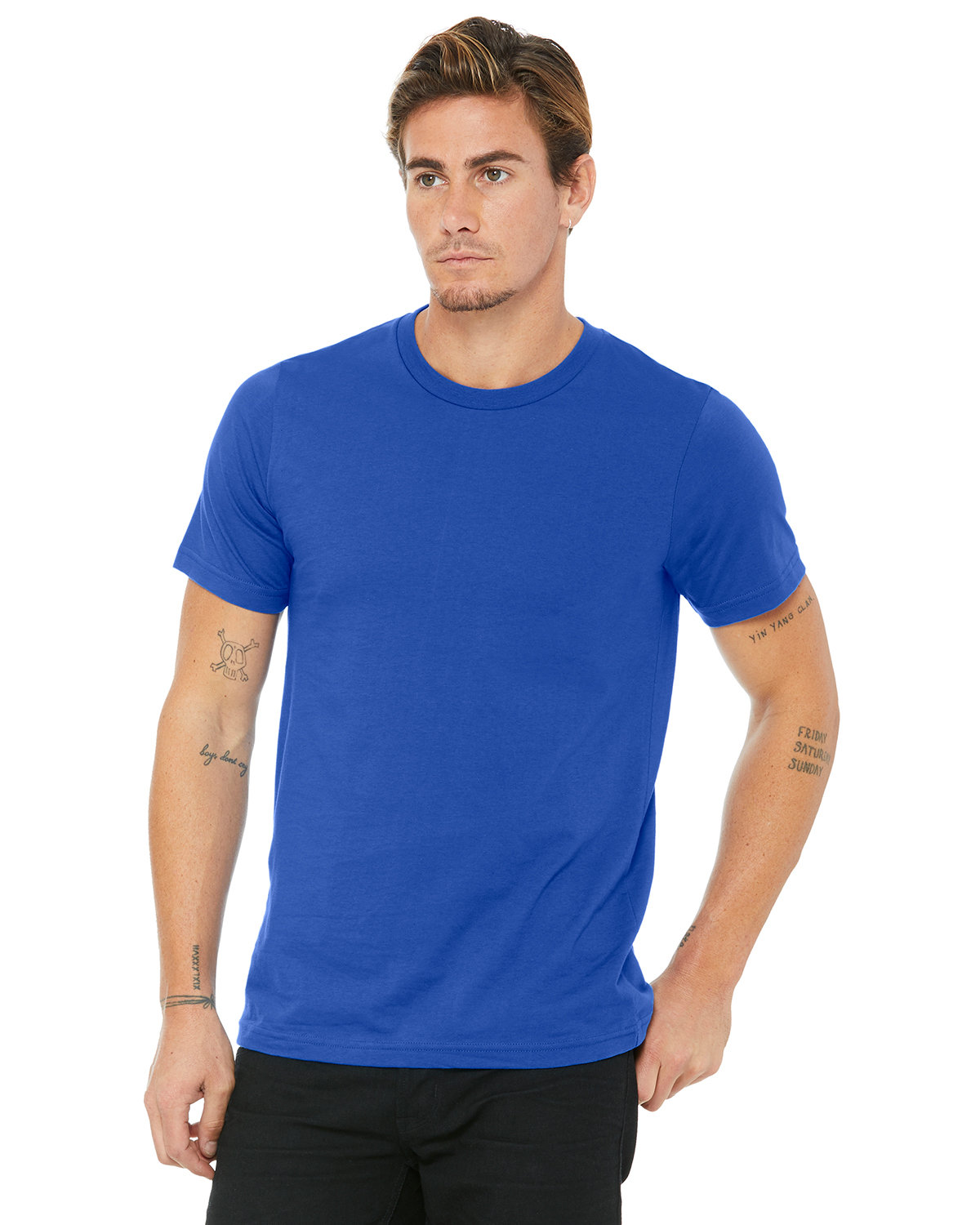 Bella + Canvas Unisex Made In The USA Jersey T-Shirt TRUE ROYAL