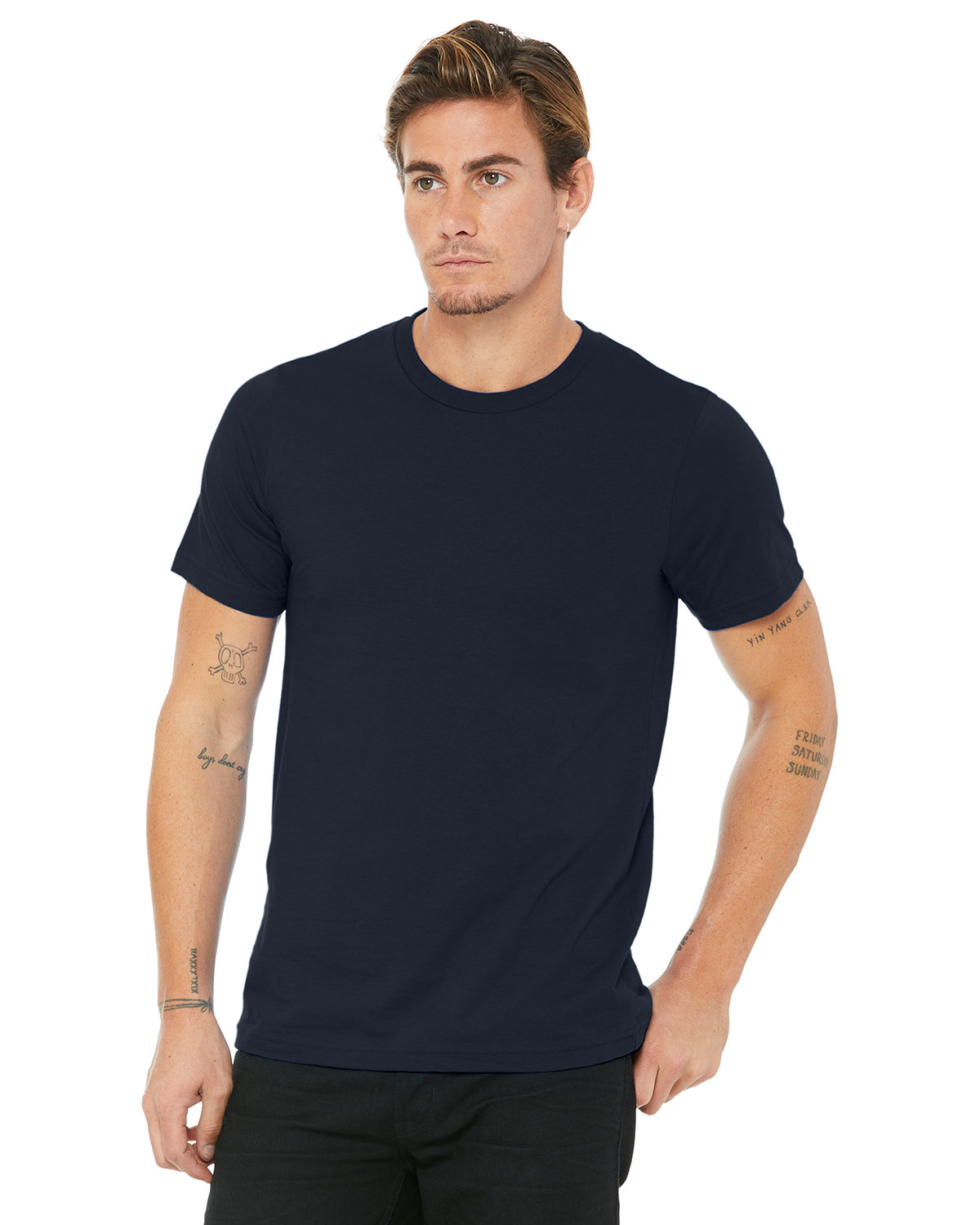 Bella + Canvas Unisex Made In The USA Jersey T-Shirt NAVY