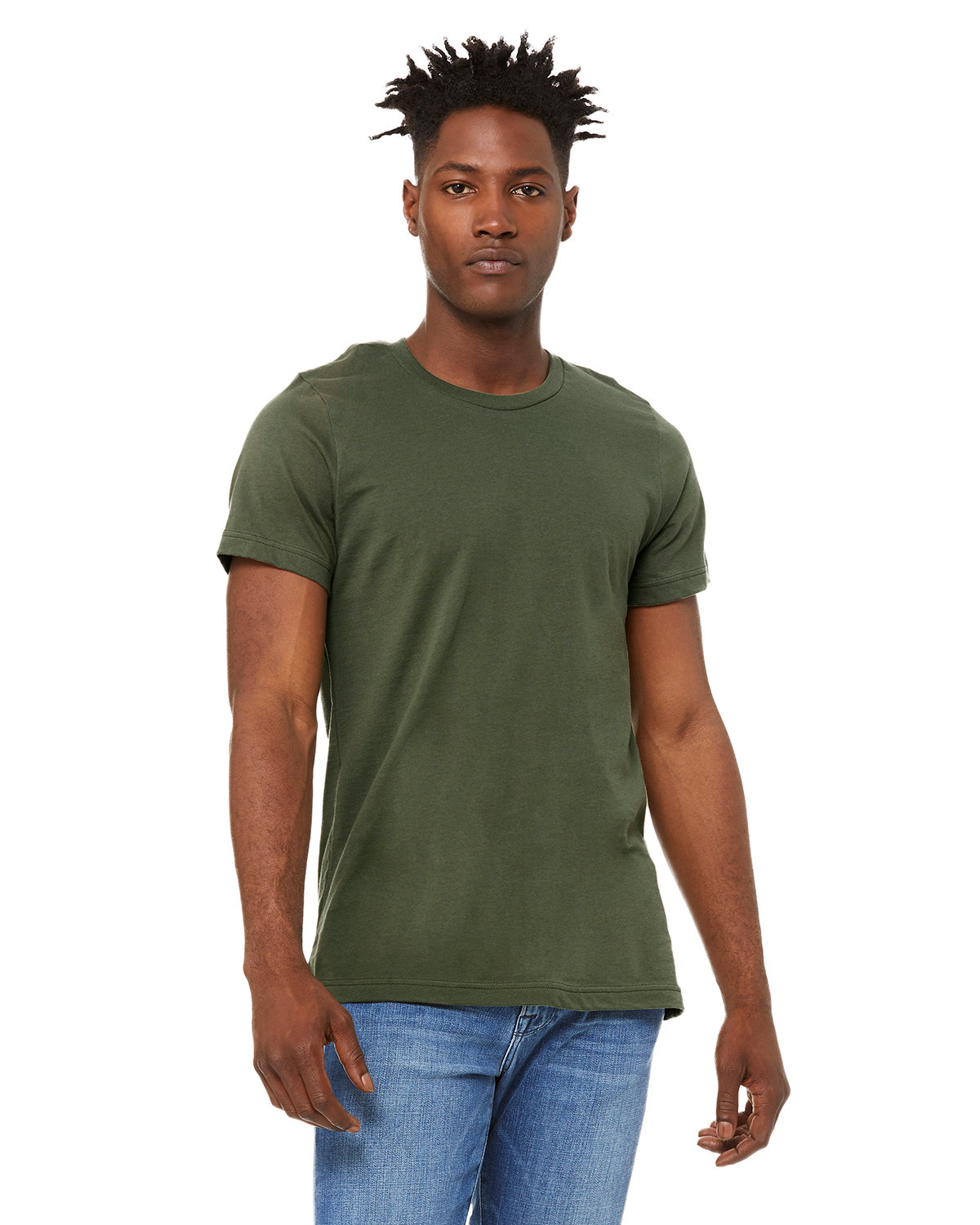 Bella + Canvas Unisex Made In The USA Jersey T-Shirt MILITARY GREEN