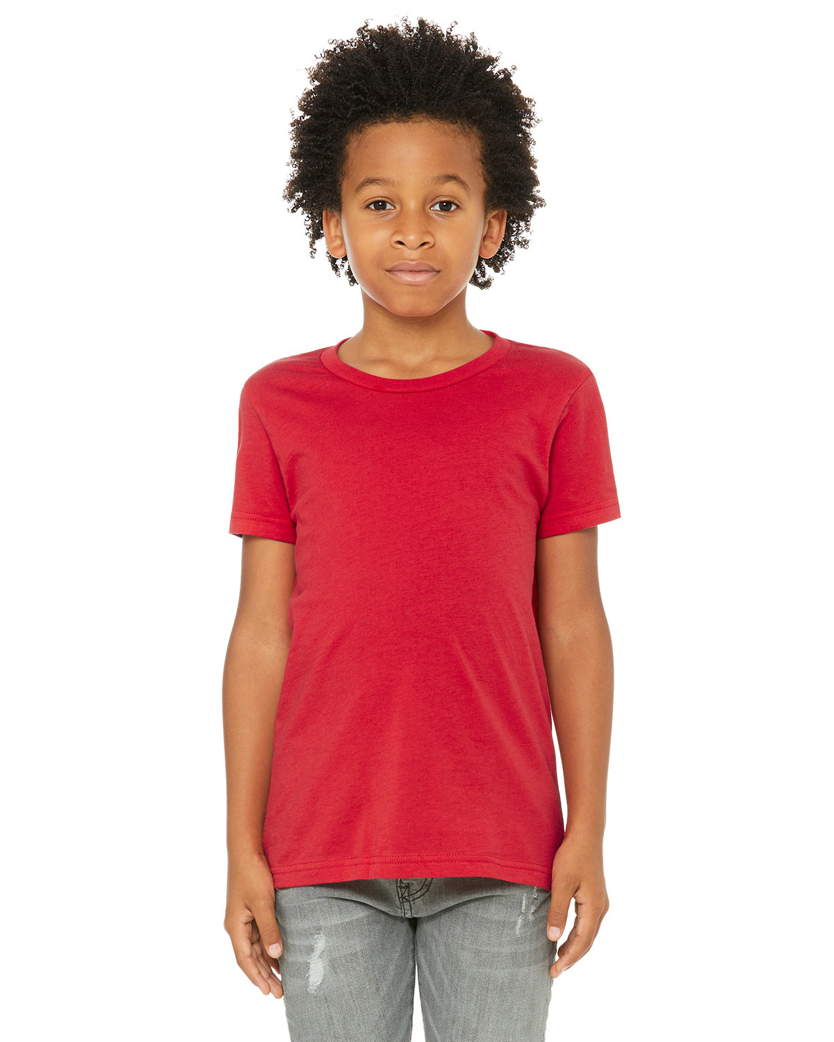 Bella + Canvas Youth Jersey T-Shirt RED