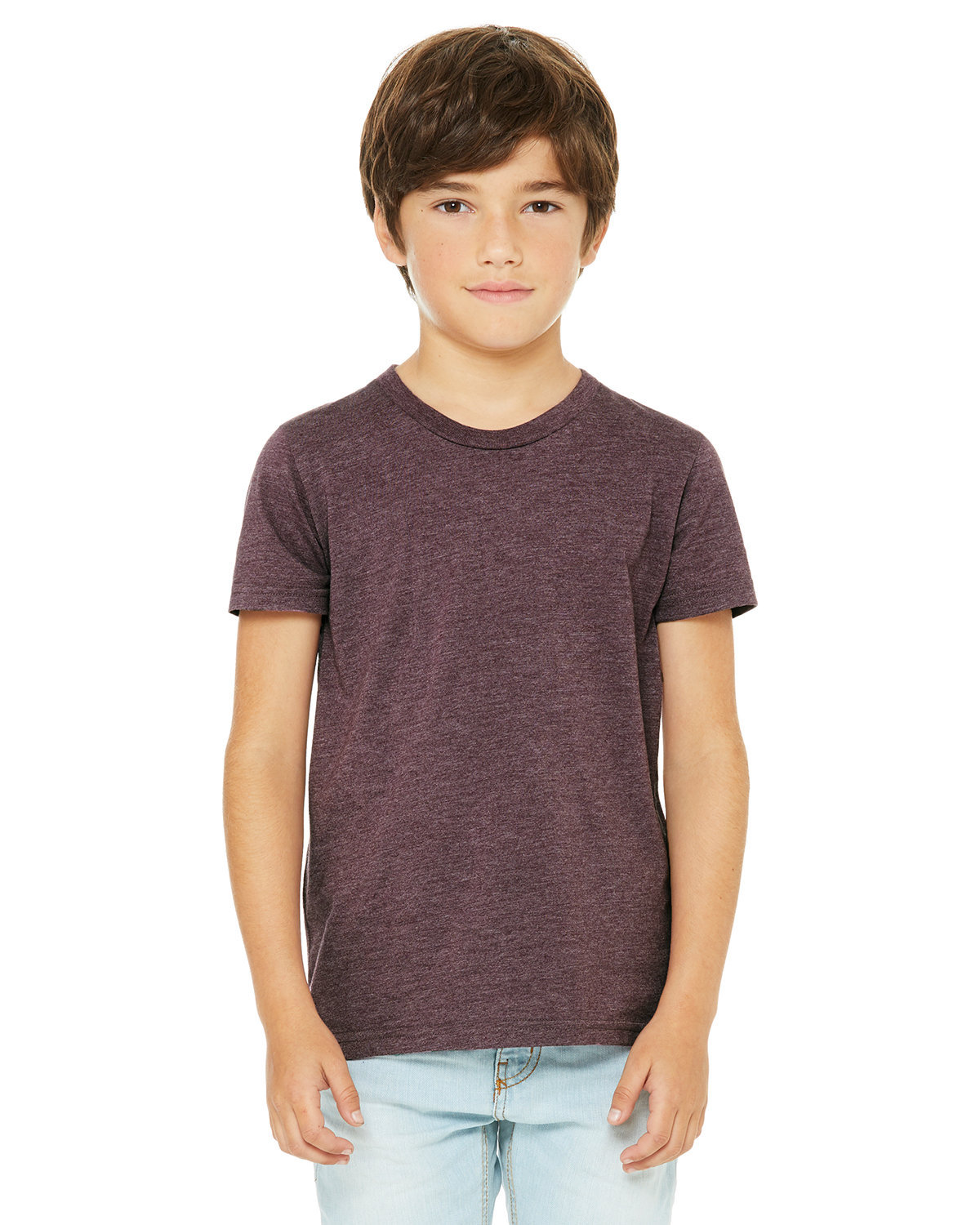 Bella + Canvas Youth Jersey T-Shirt HEATHER MAROON