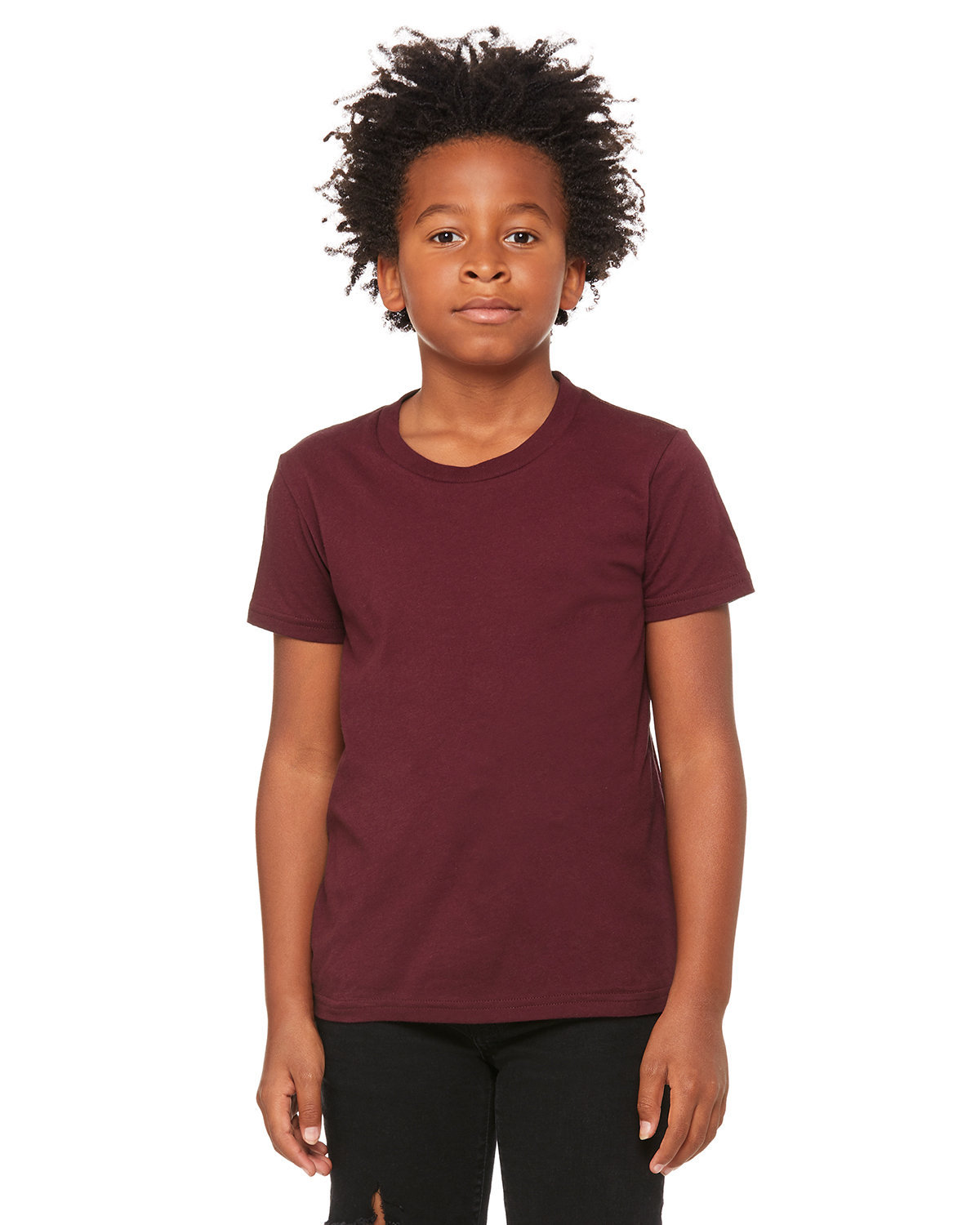 Bella + Canvas Youth Jersey T-Shirt MAROON