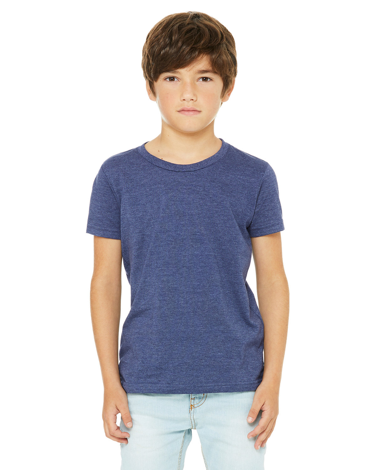 Bella + Canvas Youth Jersey T-Shirt HEATHER NAVY