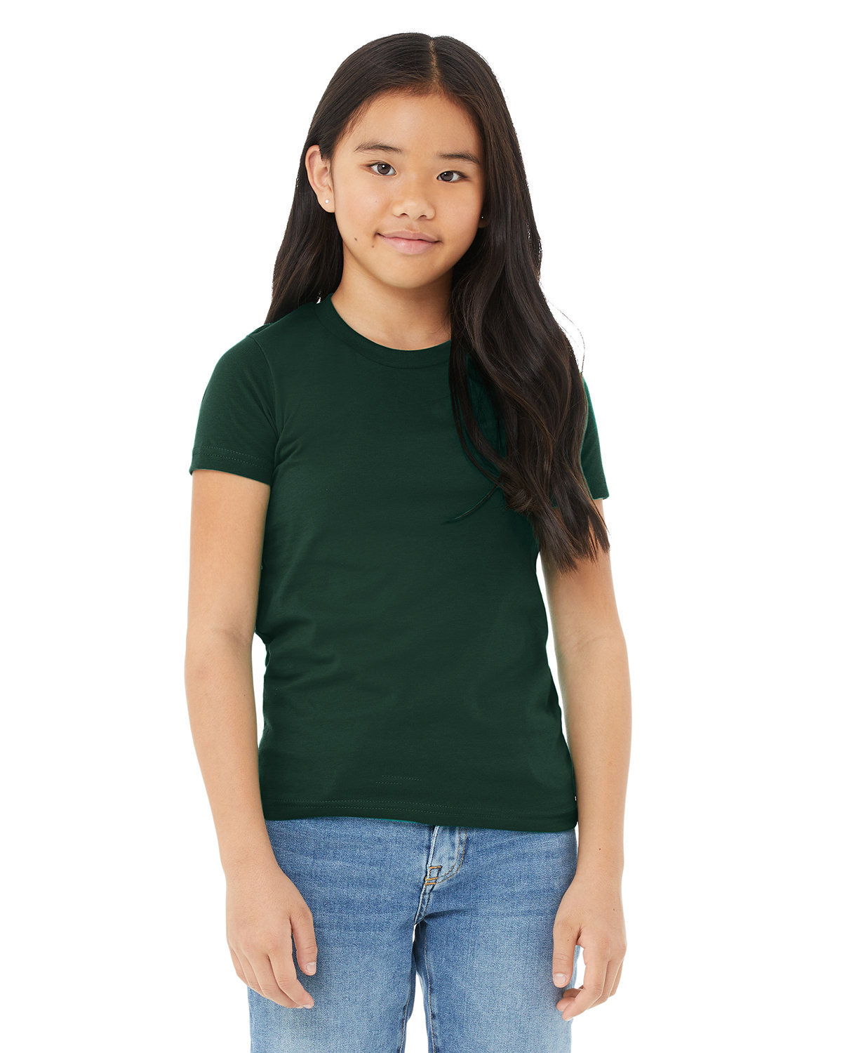 Bella + Canvas Youth Jersey T-Shirt FOREST