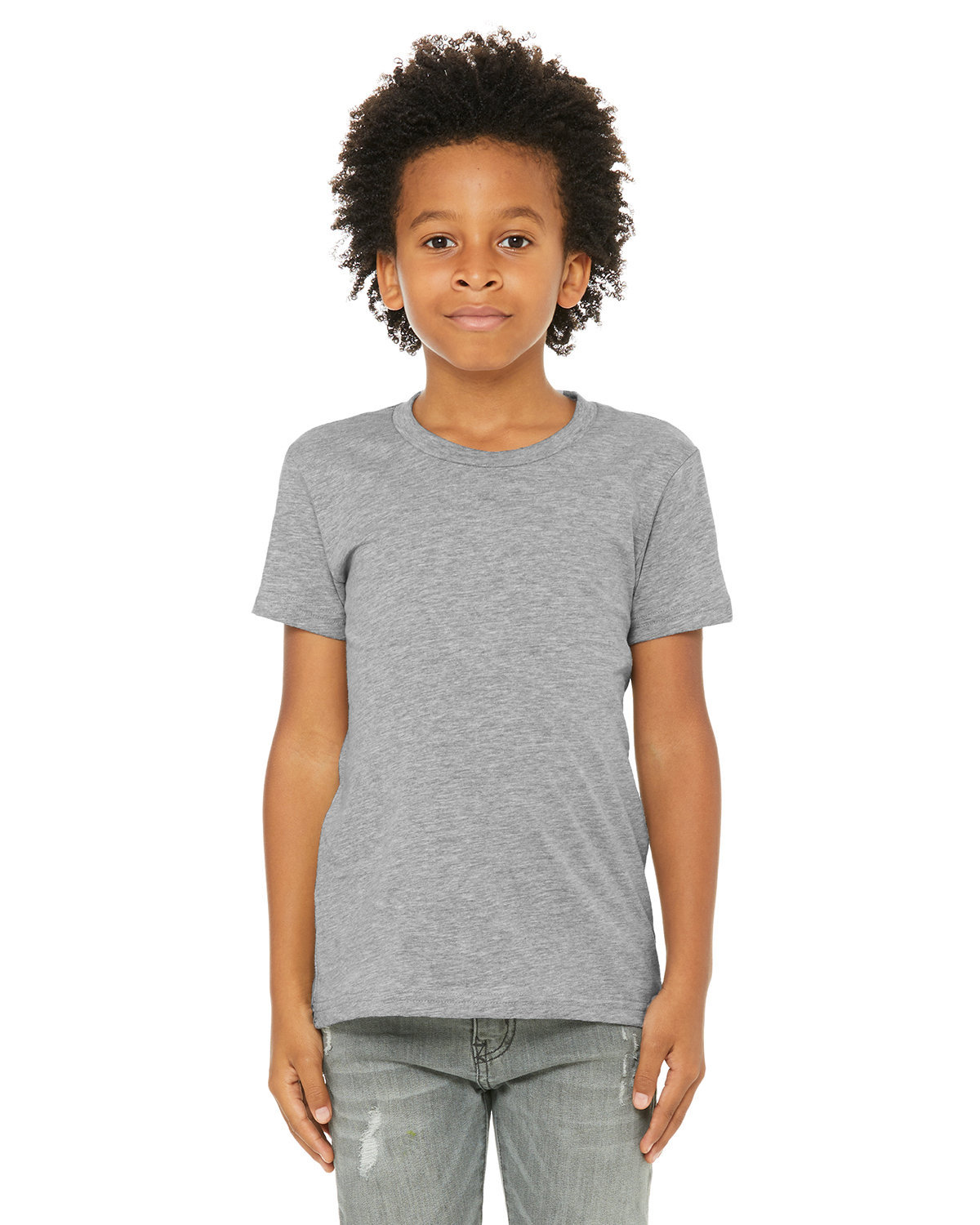 Bella + Canvas Youth Jersey T-Shirt ATHLETIC HEATHER