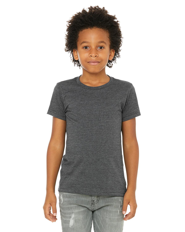 Bella + Canvas Youth Jersey T-Shirt DRK GREY HEATHER