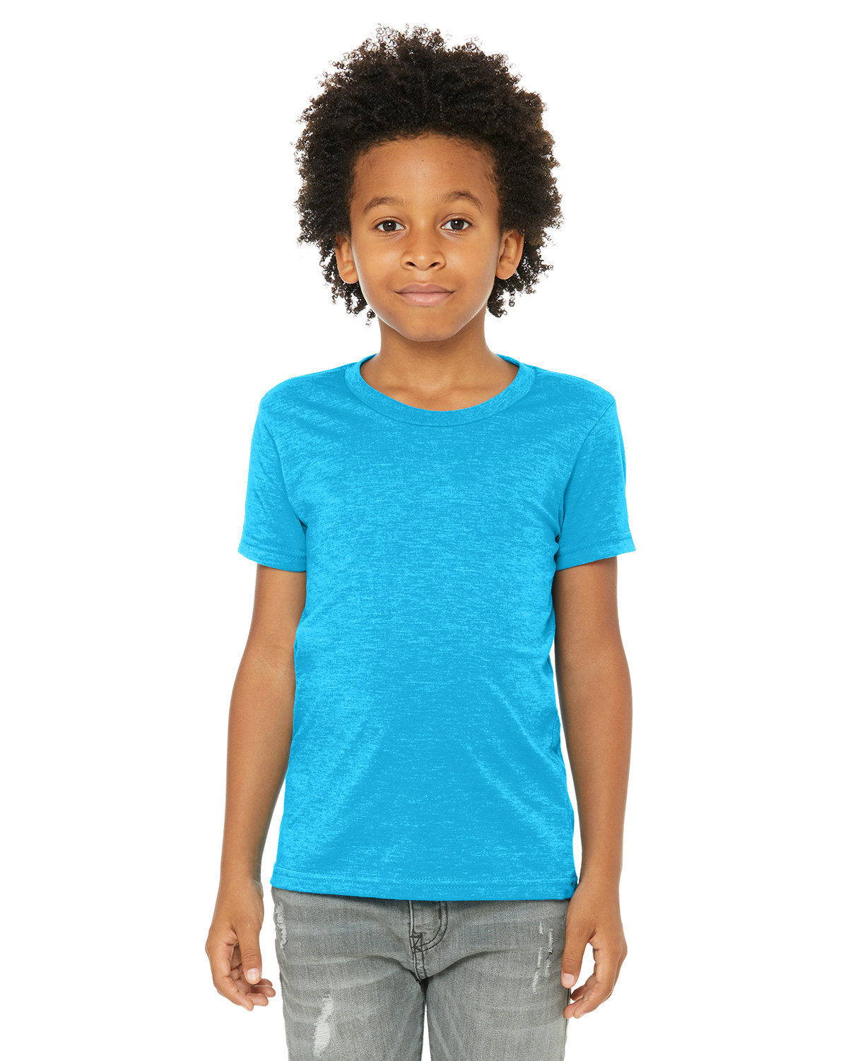 Bella + Canvas Youth Jersey T-Shirt NEON BLUE