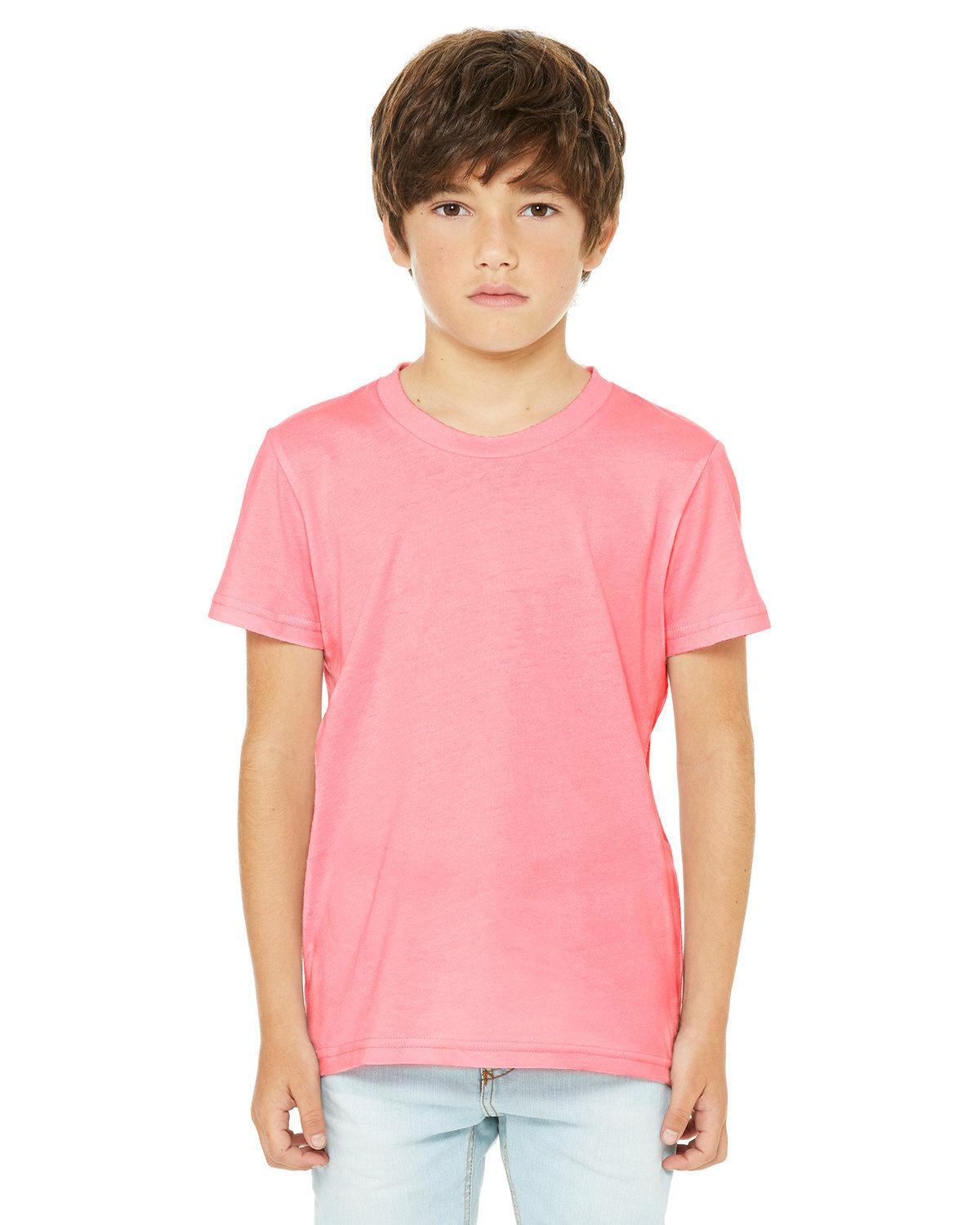 Bella + Canvas Youth Jersey T-Shirt NEON PINK