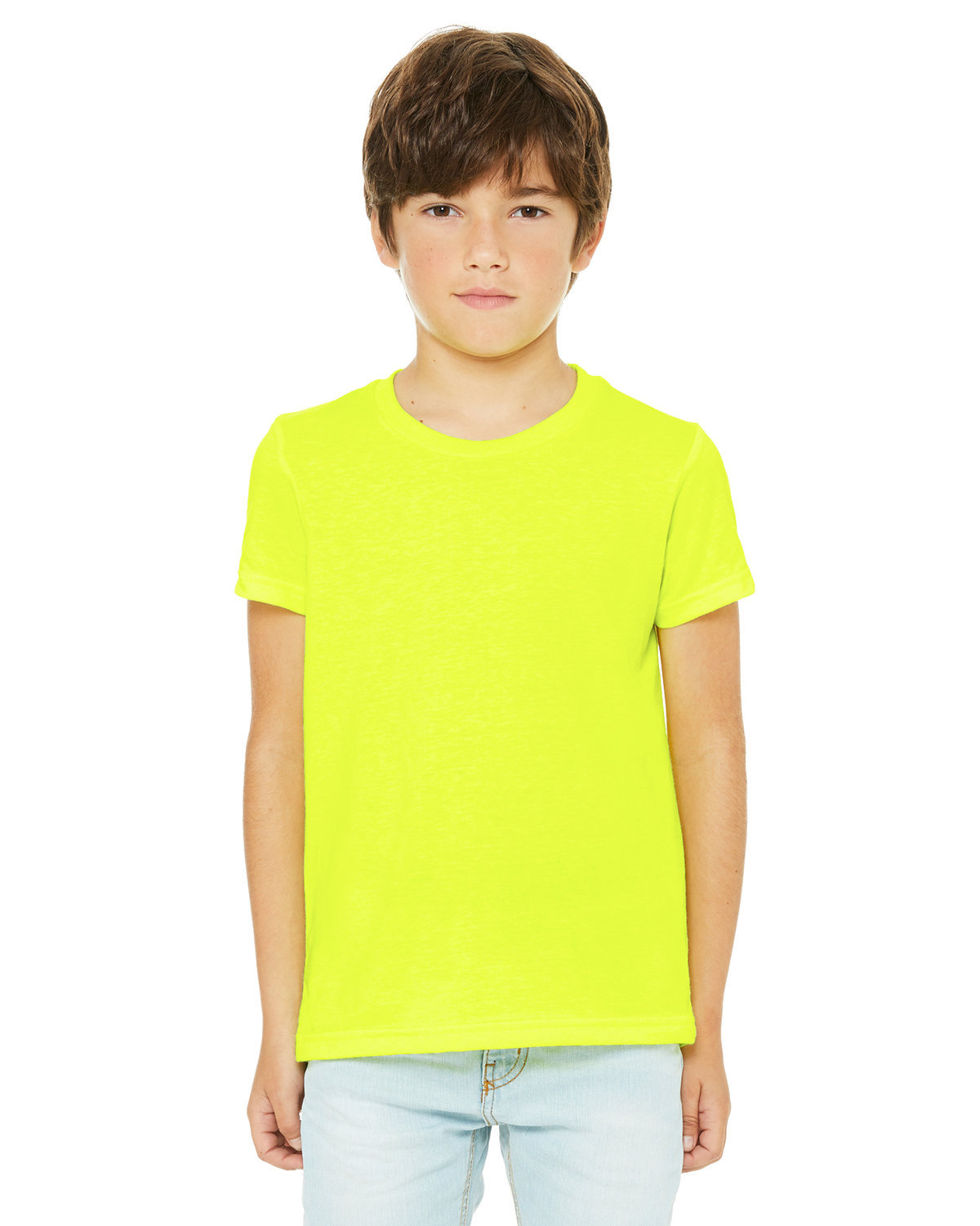 Bella + Canvas Youth Jersey T-Shirt NEON YELLOW