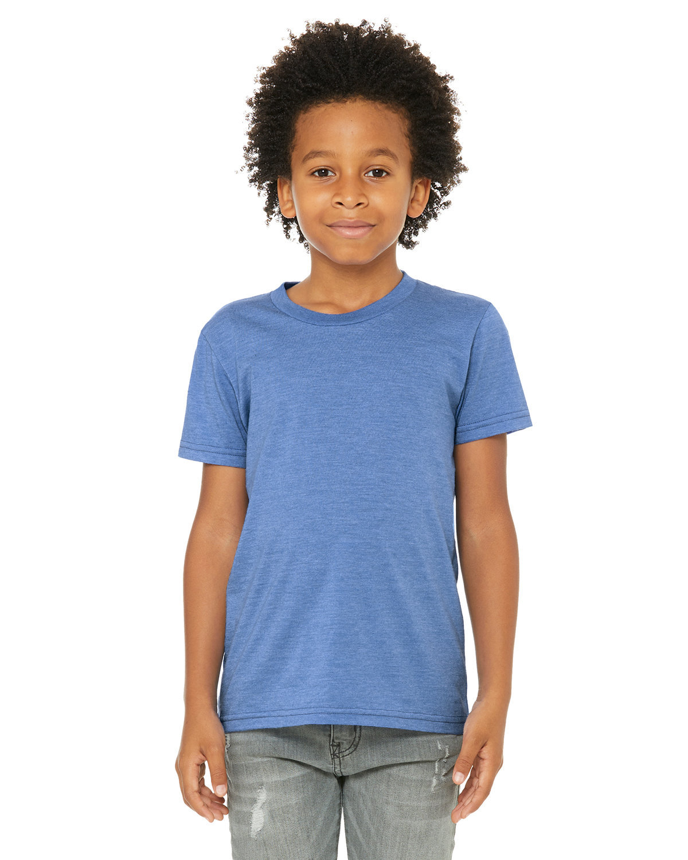 Bella + Canvas Youth Jersey T-Shirt HTHR COLUM BLUE