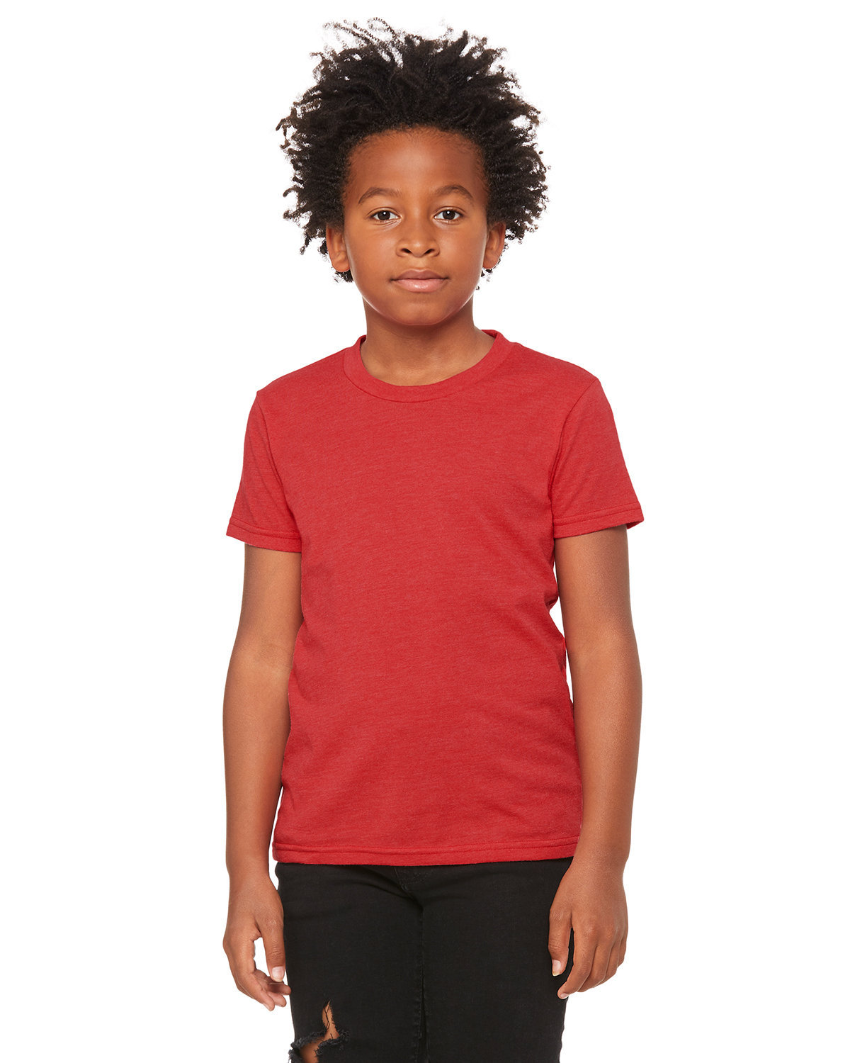 Bella + Canvas Youth Jersey T-Shirt HEATHER RED