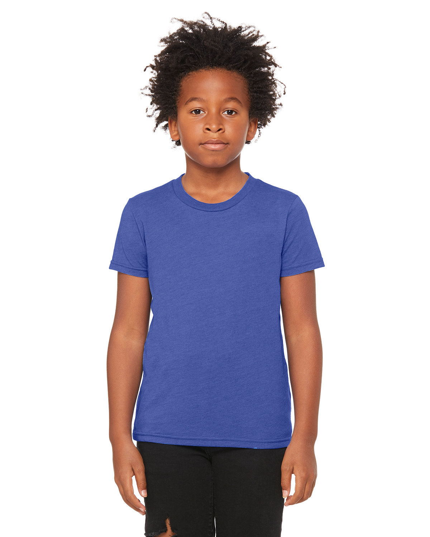 Bella + Canvas Youth Jersey T-Shirt HEATHER TRU ROYL
