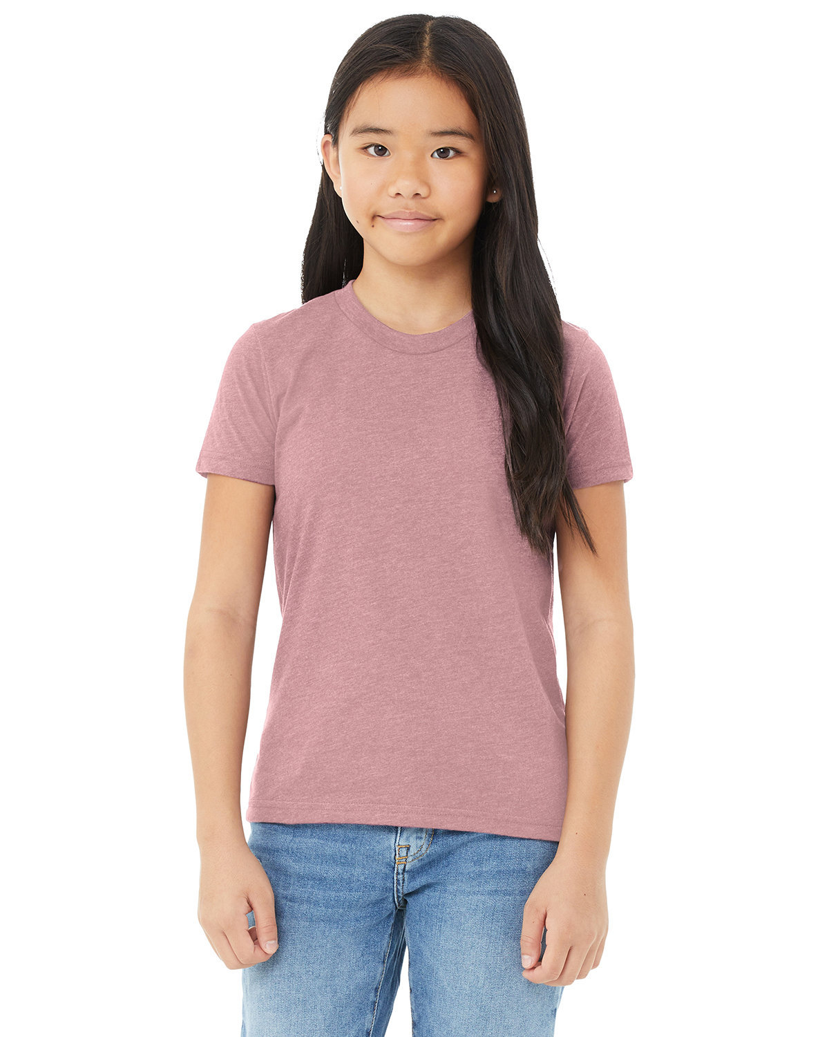 Bella + Canvas Youth Jersey T-Shirt HEATHER ORCHID