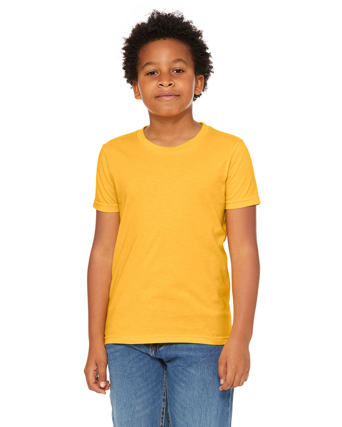 Bella + Canvas Youth Jersey T-Shirt HTHR YELLOW GOLD
