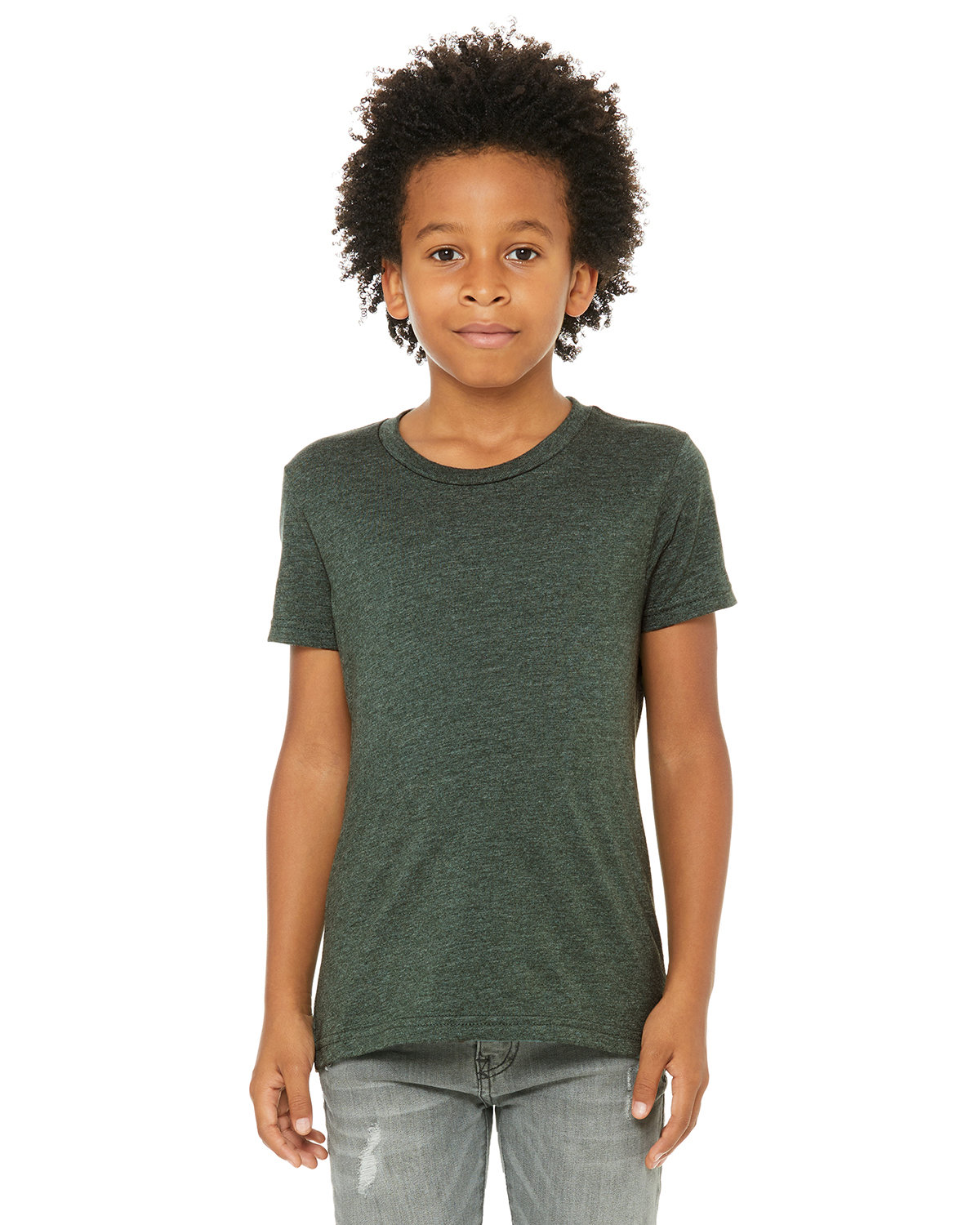 Bella + Canvas Youth Jersey T-Shirt HEATHER FOREST