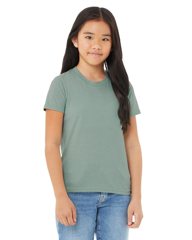 Bella + Canvas Youth Jersey T-Shirt HTHR DUSTY BLUE