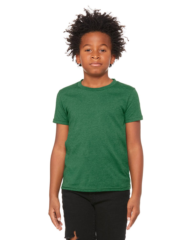 Bella + Canvas Youth Jersey T-Shirt HTHR GRASS GRN