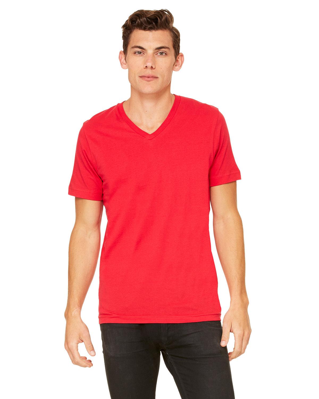 Bella + Canvas Unisex Jersey Short-Sleeve V-Neck T-Shirt RED