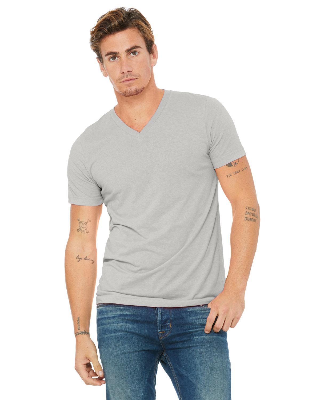 Bella + Canvas Unisex Jersey Short-Sleeve V-Neck T-Shirt SILVER