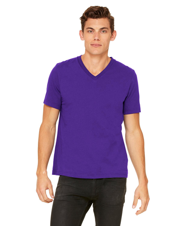 Bella + Canvas Unisex Jersey Short-Sleeve V-Neck T-Shirt TEAM PURPLE