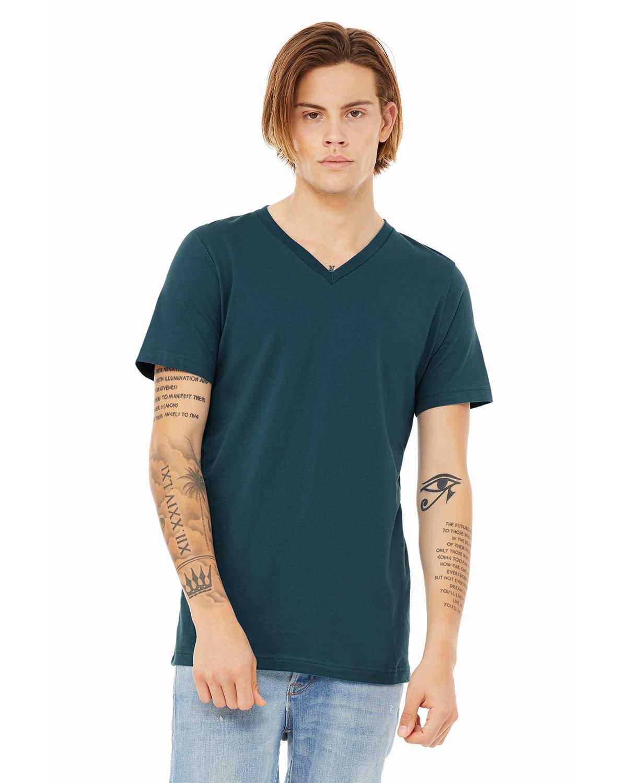 Bella + Canvas Unisex Jersey Short-Sleeve V-Neck T-Shirt DEEP TEAL