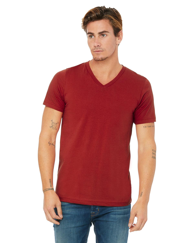 Bella + Canvas Unisex Jersey Short-Sleeve V-Neck T-Shirt CANVAS RED