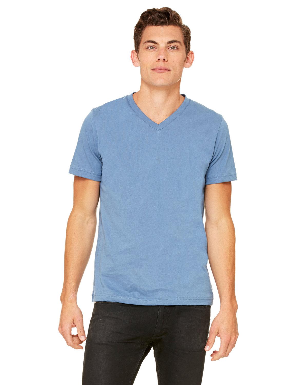 Bella + Canvas Unisex Jersey Short-Sleeve V-Neck T-Shirt STEEL BLUE