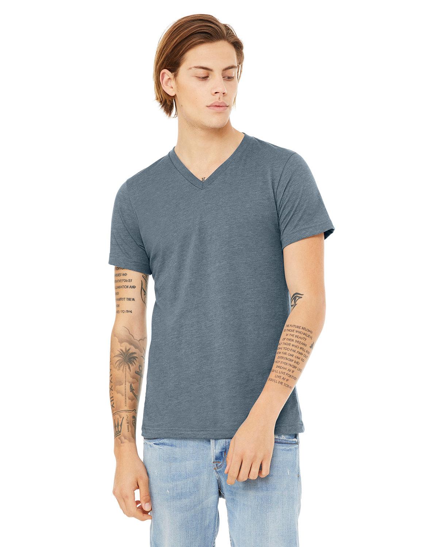 Bella + Canvas Unisex Jersey Short-Sleeve V-Neck T-Shirt HEATHER SLATE