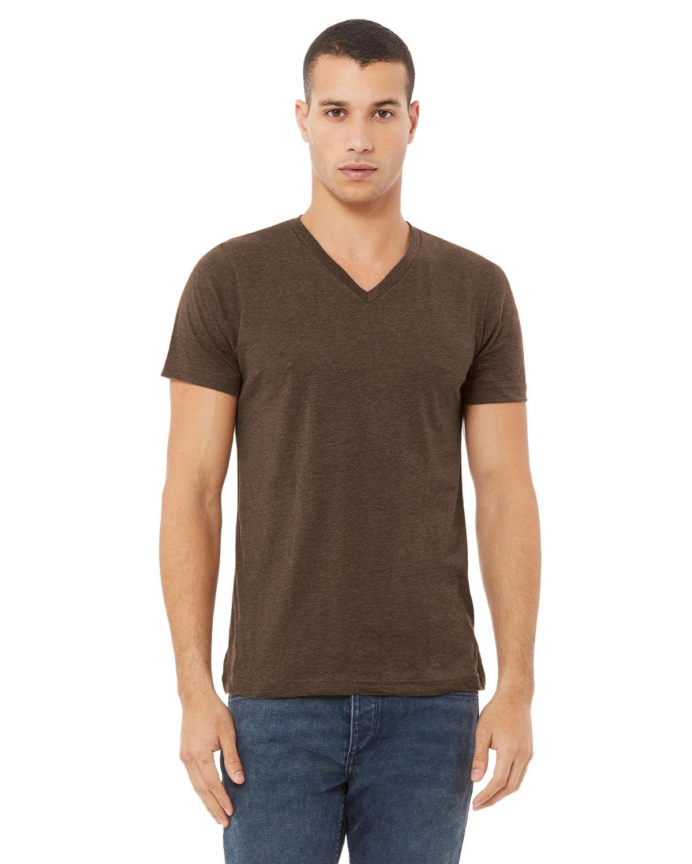 Bella + Canvas Unisex Jersey Short-Sleeve V-Neck T-Shirt HEATHER BROWN
