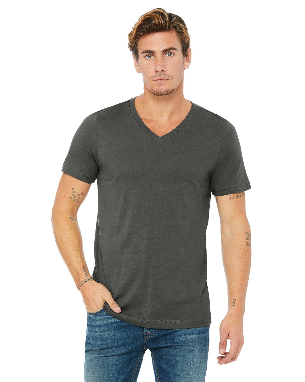 Bella + Canvas Unisex Jersey Short-Sleeve V-Neck T-Shirt ASPHALT