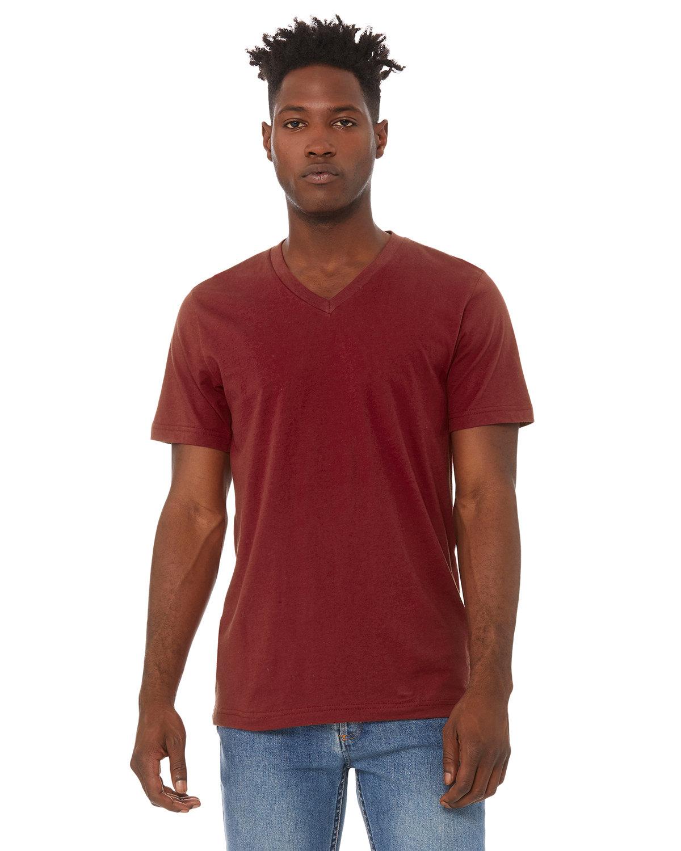 Bella + Canvas Unisex Jersey Short-Sleeve V-Neck T-Shirt CARDINAL