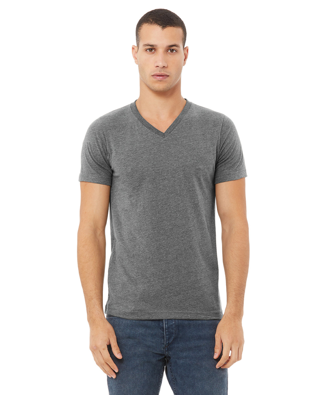Bella + Canvas Unisex Jersey Short-Sleeve V-Neck T-Shirt DEEP HEATHER