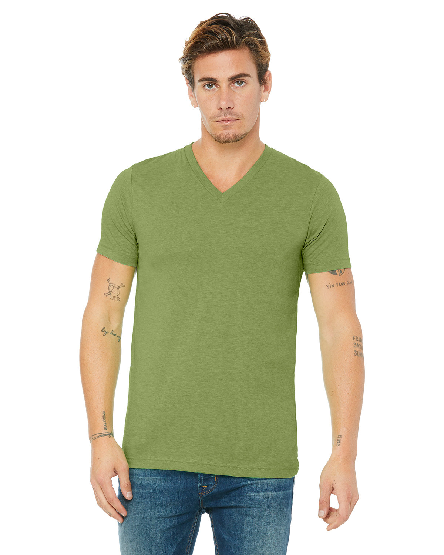 Bella + Canvas Unisex Jersey Short-Sleeve V-Neck T-Shirt HEATHER GREEN