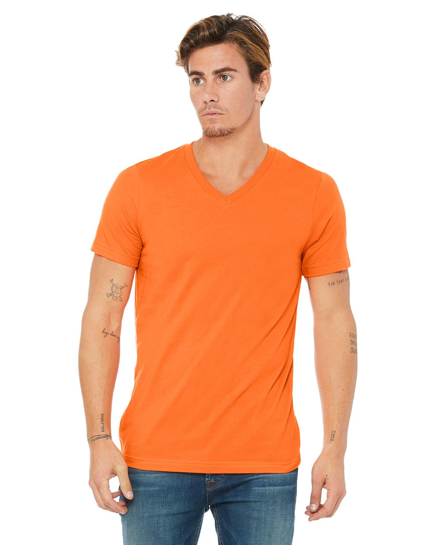 Bella + Canvas Unisex Jersey Short-Sleeve V-Neck T-Shirt ORANGE