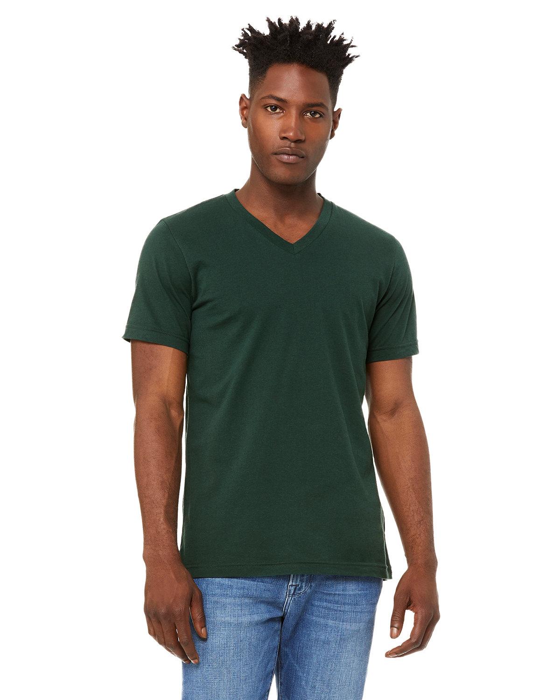 Bella + Canvas Unisex Jersey Short-Sleeve V-Neck T-Shirt FOREST