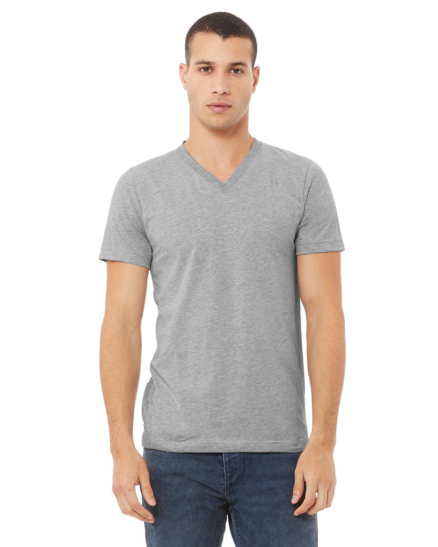 Bella + Canvas Unisex Jersey Short-Sleeve V-Neck T-Shirt ATHLETIC HEATHER