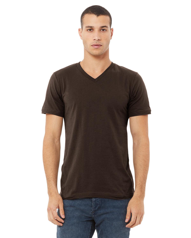 Bella + Canvas Unisex Jersey Short-Sleeve V-Neck T-Shirt BROWN
