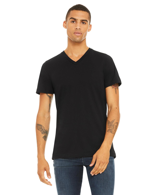 Bella + Canvas Unisex Jersey Short-Sleeve V-Neck T-Shirt BLACK