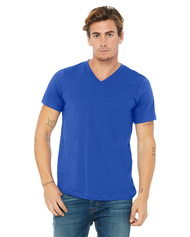 Bella + Canvas Unisex Jersey Short-Sleeve V-Neck T-Shirt TRUE ROYAL
