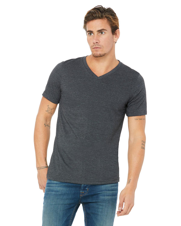Bella + Canvas Unisex Jersey Short-Sleeve V-Neck T-Shirt DK GREY HEATHER