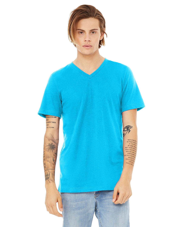 Bella + Canvas Unisex Jersey Short-Sleeve V-Neck T-Shirt NEON BLUE