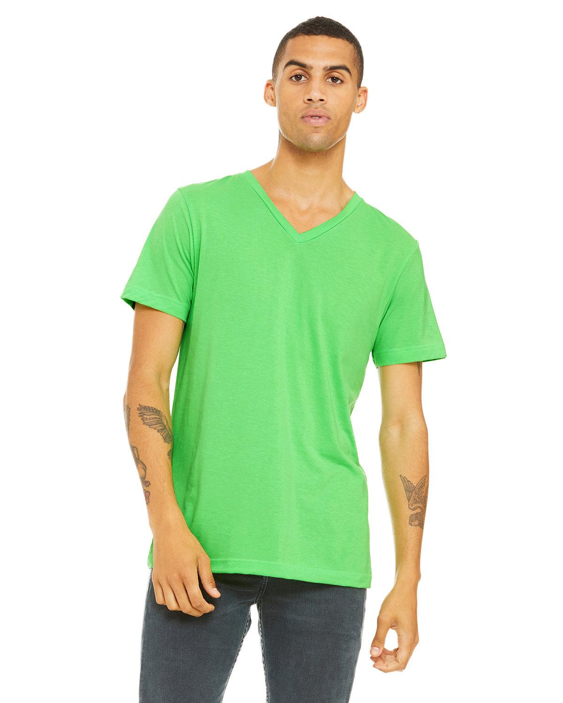 Bella + Canvas Unisex Jersey Short-Sleeve V-Neck T-Shirt NEON GREEN