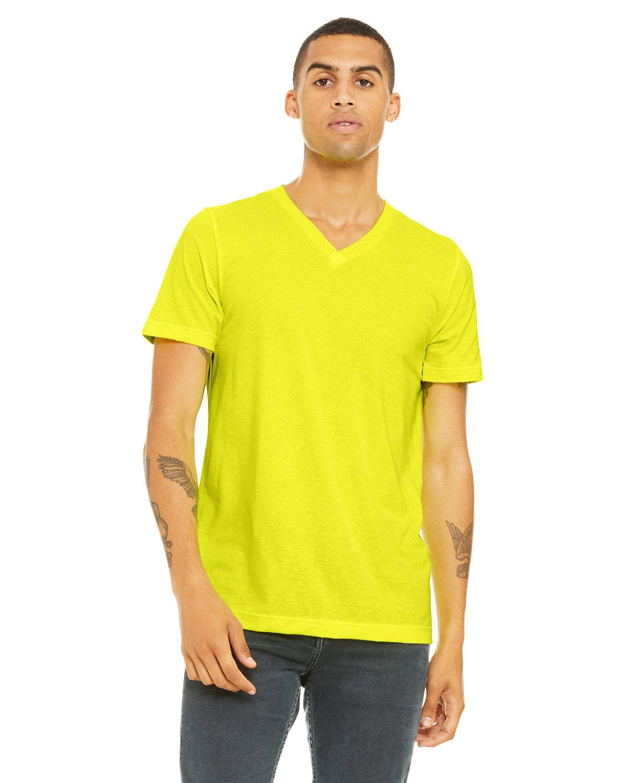 Bella + Canvas Unisex Jersey Short-Sleeve V-Neck T-Shirt NEON YELLOW