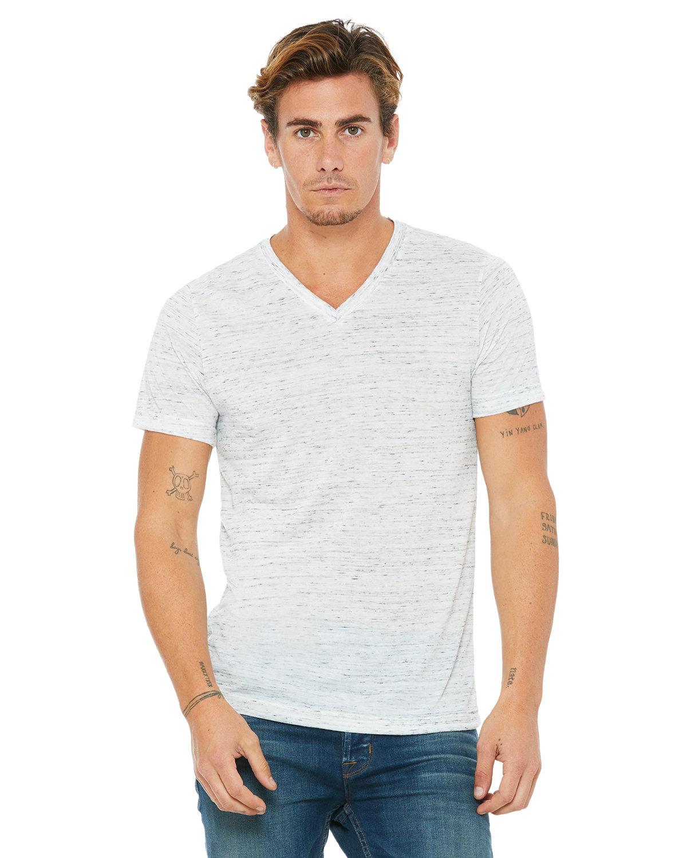 Bella + Canvas Unisex Jersey Short-Sleeve V-Neck T-Shirt WHITE MARBLE
