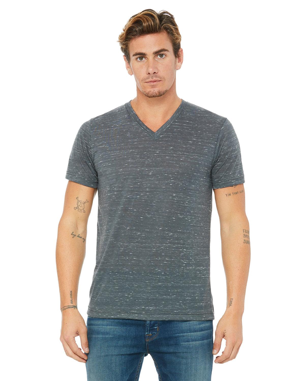 Bella + Canvas Unisex Jersey Short-Sleeve V-Neck T-Shirt CHARCOAL MARBLE